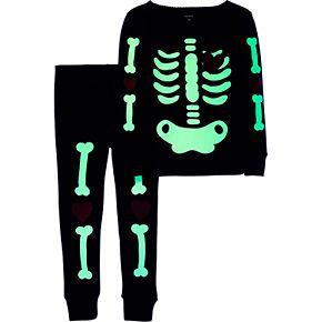 Baby Girl Carter's 2-Piece Skeleton Snug Fit Cotton Pajama Set