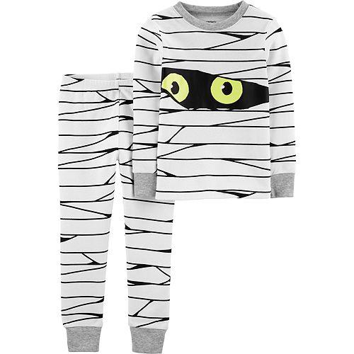 Baby Boy Carter's 2-Piece Glow-In-The-Dark Mummy Snug Fit Cotton Pajama Set