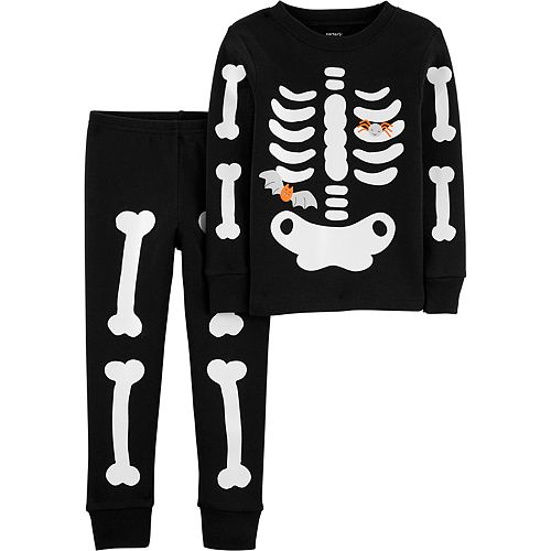Baby Boy Carter's 2-Piece Skeleton Snug Fit Cotton Pajama Set