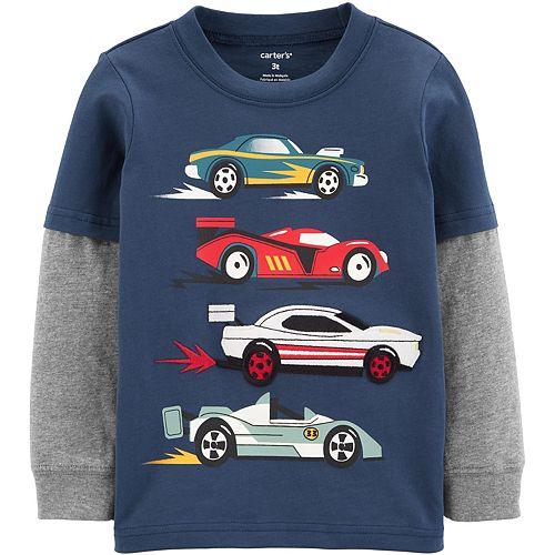 Baby Boy Carter's Race Car Layered-Look Jersey Tee