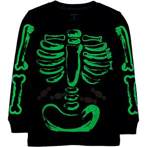 Baby Boy Carter's Glow-in-the-Dark Halloween Skeleton Jersey Tee