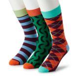 Men's HS by Happy Socks 3-pack Patterned Crew Socks