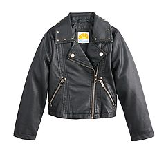 Girls 7-16 C&C Unicorn Faux-Leather Moto Jacket