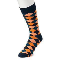 Men's HS by Happy Socks Diagonal Square Crew Socks