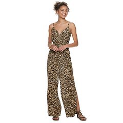 Juniors' AS U WISH Animal Print Jumpsuit