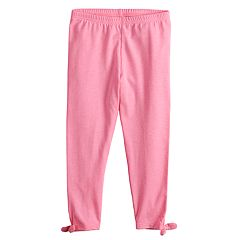 657b33890b4bde Girls 4-12 Jumping Beans® Heathered Bow Leggings. Heather Navy Pink  Statement