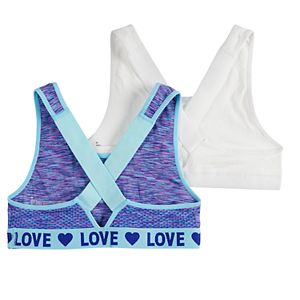 Girls 6-16 SO 2-Pack Mesh Bralettes