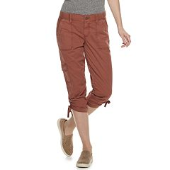 e74ef33378485 Women's SONOMA Goods for Life™ Ruched Midrise Capris