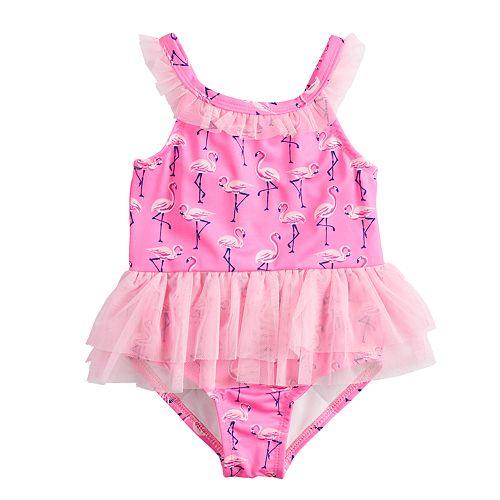 Toddler Girl Penny M Flamingo Tutu One-Piece Swimsuit