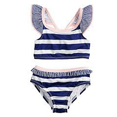 Toddler Girl Penny M Striped Two-Piece Swimsuit
