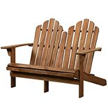 Linon Adirondack Indoor / Outdoor Patio Double Bench