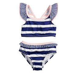 Baby Girl Penny M Striped Two-Piece Swimsuit