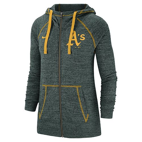 Women's Nike Oakland Athletics Full Zip Fleece