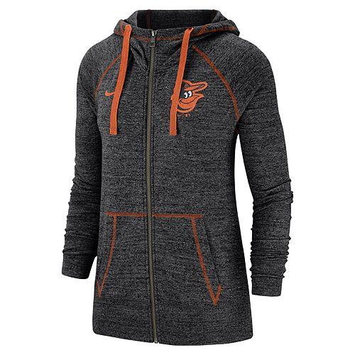 Women's Nike Baltimore Orioles Full Zip Fleece