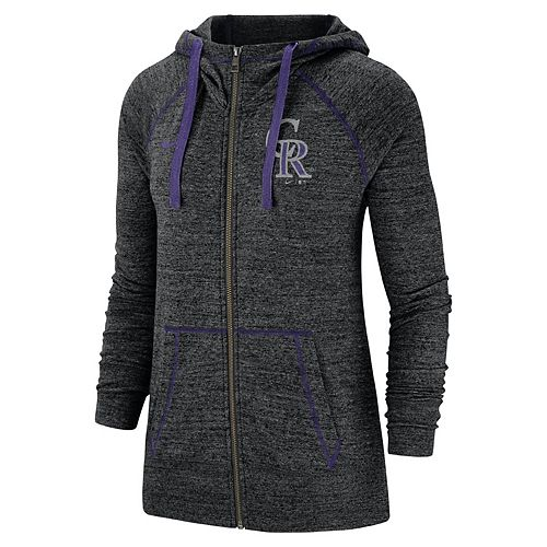 Women's Nike Colorado Rockies Full Zip Fleece Hoodie