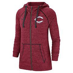 Women's Nike Cincinnati Reds Full Zip Fleece