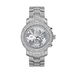 Men's JBW Veyron Diamond Accent & Crystal Stainless Steel Watch