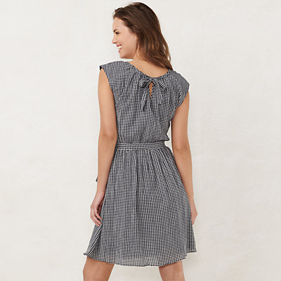 Petite LC Lauren Conrad Pleated Fit & Flare Dress