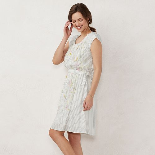 Petite LC Lauren Conrad Pleated Fit & Flare Dress