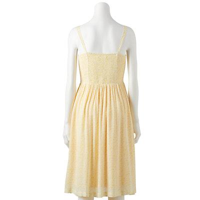 Petite LC Lauren Conrad Print Button-Front Tank Dress
