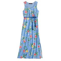 68a2ccebcec Girls 7-16 Three Pink Hearts Printed Racerback Maxi Dress