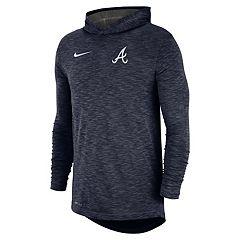 Nike Men's Atlanta Braves Dri-FIT Slubbed Logo Hoodie
