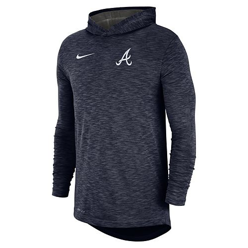 c1cf46d3c19e4 Nike Men's Atlanta Braves Dri-FIT Slubbed Logo Hoodie