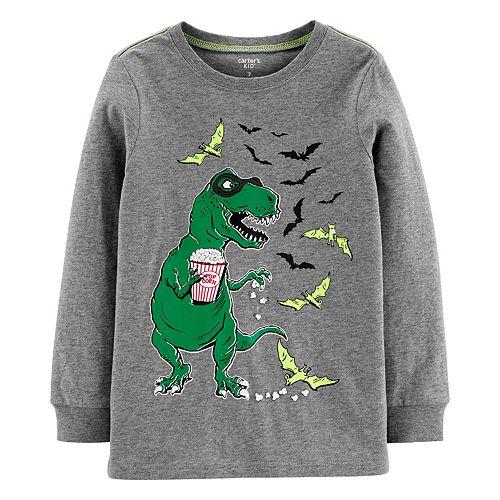 Boys 4-14 Carter's Halloween Dinosaur Skeleton Tee