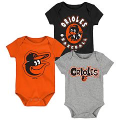 Baby Boy Baltimore Orioles Everyday Fan Bodysuit 3-Pack