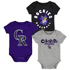 Baby Boy Colorado Rockies Everyday Fan Bodysuit 3-Pack