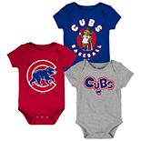 Baby Boy Chicago Cubs Everyday Fan Bodysuit 3-Pack