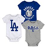 Baby Boy Los Angeles Dodgers Everyday Fan Bodysuit 3-Pack
