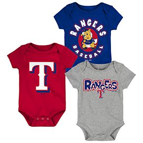 Baby Boy Texas Rangers Everyday Fan Bodysuit 3-Pack