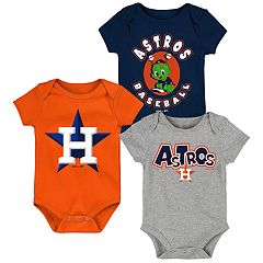 Baby Boy Houston Astros Everyday Fan Bodysuit 3-Pack