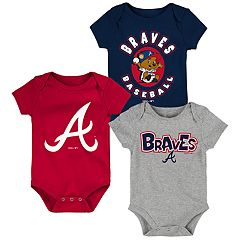 Baby Boy Atlanta Braves Everyday Fan Bodysuit 3-Pack