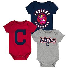 Baby Boy Cleveland Indians Everyday Fan Bodysuit 3-Pack