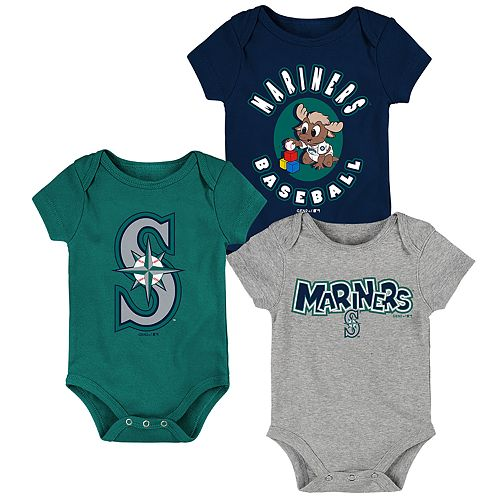 Baby Boy Seattle Mariners Everyday Fan Bodysuit 3-Pack