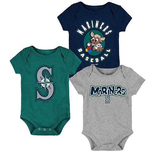 Baby Boy Seattle Mariners Everyday Fan Bodysuit 3-Pack