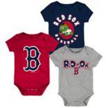 Baby Boy Boston Red Sox Everyday Fan Bodysuit 3-Pack