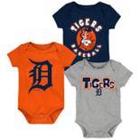 Baby Boy Detroit Tigers Everyday Fan Bodysuit 3-Pack