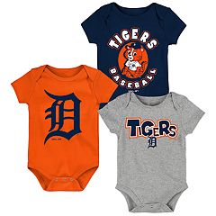 Baby Boy Detroit Tigers Everyday Fan Bodysuit 3-Pack