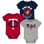 Baby Boy Minnesota Twins Everyday Fan Bodysuit 3-Pack