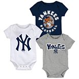 Baby Boy New York Yankees Everyday Fan Bodysuit 3-Pack