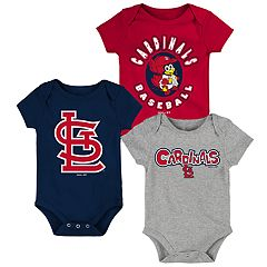 Baby Boy St. Louis Cardinals Everyday Fan Bodysuit 3-Pack