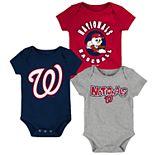 Baby Boy Washington Nationals Everyday Fan Bodysuit 3-Pack