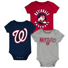 Baby Boy Washington Nationals Everyday Fan Bodysuit 3-Pack