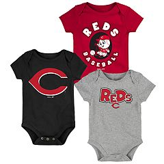 Baby Boy Cincinnati Reds Everyday Fan Bodysuit 3-Pack