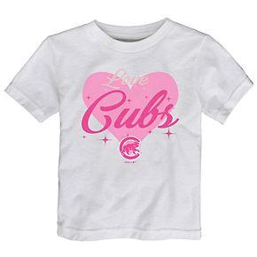 Toddler Girl Chicago Cubs Heart Stars Tee