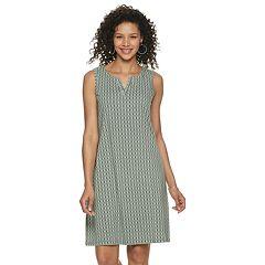 217922c099 Petite Croft & Barrow Sleeveless Split-Neck Slub Dress