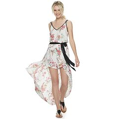 Juniors' Candie's® Floral Print Maxi Romper Dress
